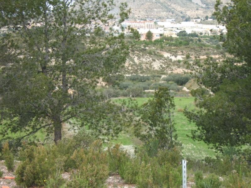 vistas del Terreno en Finestrat