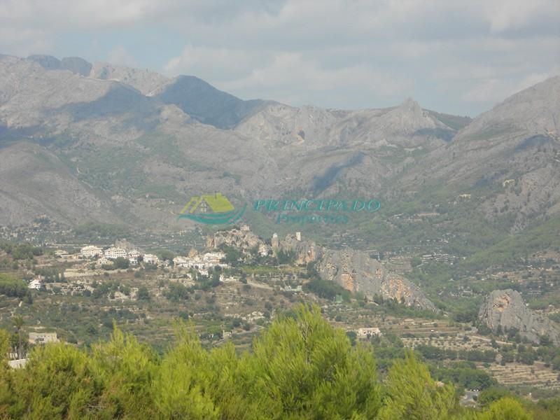 vistas del Chalet en Guadalest